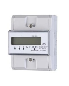 3 fase kWh meter 80A LCD