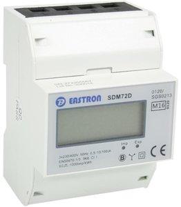 SDM72D 3 fase kWh meter 100A LCD MID gekeurd