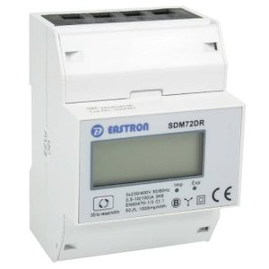 SDM72DR 3 fase kWh energie meter 100A LCD MID B+D gekeurd